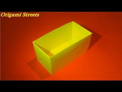 Как сделать коробку из бумаги. Оригами коробка