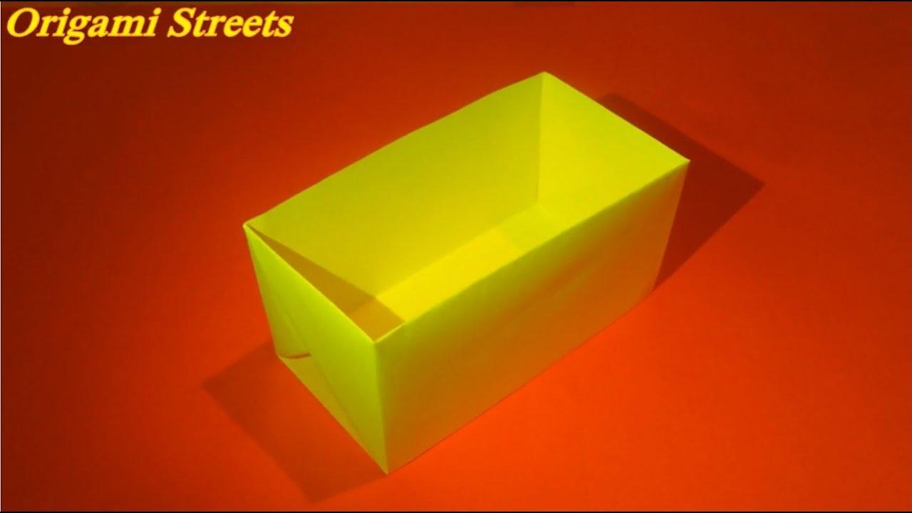 Как сделать коробку из оригами из бумаги 85