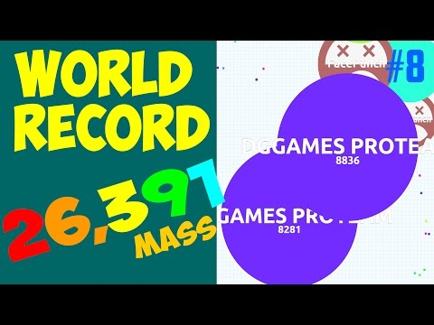AGARIO WORLD RECORD : BIGGEST CELL EVER 26391 MASS! - TEAMING IN AGAR.IO #8