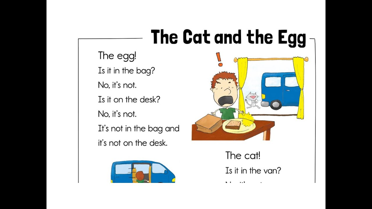 Kids Reading Practice - TRW Readers 1 - Story 5 The Cat and the Egg