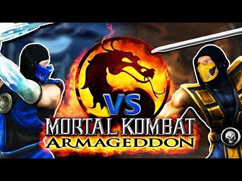 Scorpion And Sub-zero Play MORTAL KOMBAT Armageddon! | Real MK PARODY! thumbnail