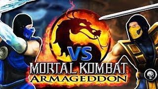 Scorpion And Sub-zero Play MORTAL KOMBAT Armageddon! | Real MK PARODY!