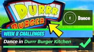Dance in Durrr Burger Kitchen Location - Fortnite