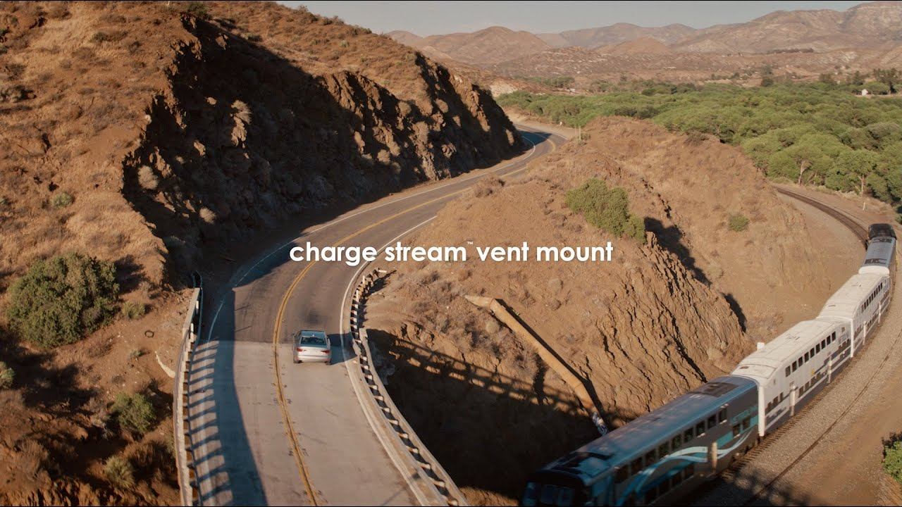 charge stream vent mount