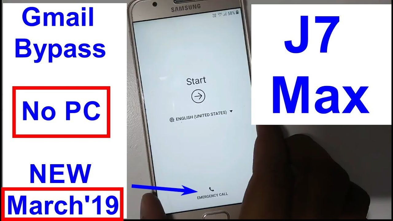 Samsung Galaxy J7 Max SM G615F Gmail Bypass And Frp Reset New Trick 2019
