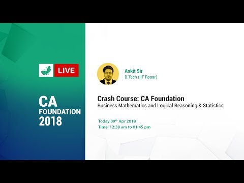 Free CA Foundation/CPT Sessions: Ratio & Proportion, Indices and Logarithms