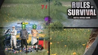 CARRYING THE YOUTUBER SQUAD IN RULES OF SURVIVAL!