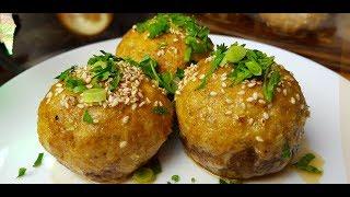 Грибы фаршированные рыбой, цыганка готовит. Gipsy cuisine.