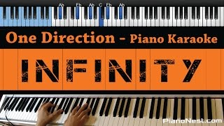One Direction - Infinity - LOWER Key (Piano Karaoke / Sing Along / Cover with Lyrics)