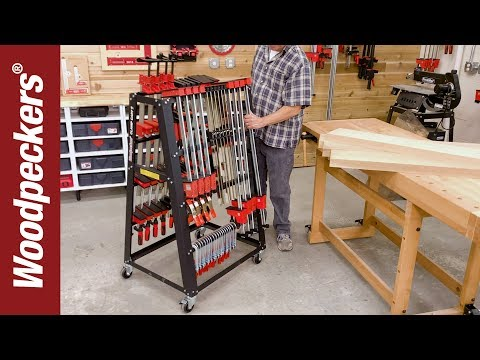 Roll Clamps Right Where You Need Them | Clamp Cart | Woodworking Tools