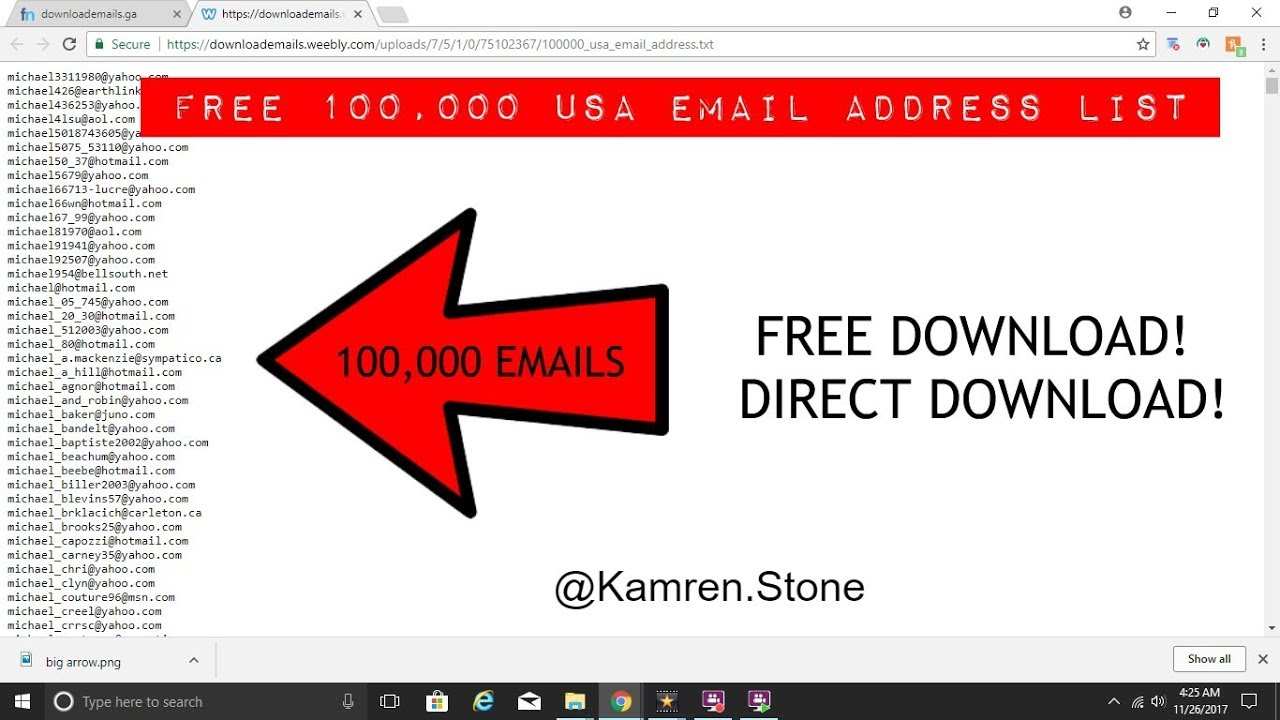 how can i get email addresses free
