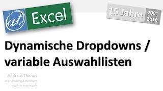 Excel - Dynamische Dropdownliste erzeugen - Auswahlliste