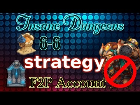 Castle Clash Insane Dungeon 6-6 Strategy_ F2P Account