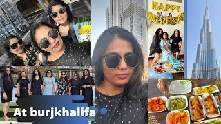 Party at Burjkhalifa   Top view from Burjkhalifa 🌅   Friends, Fun,Food   private access   priya