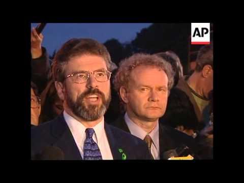 UK: N. IRELAND PEACE TALKS: GERRY ADAMS