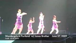 "Wondergirls ""Tell Me"" English at Jonas Bro Concert in Portland 062709"