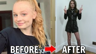 TRANSFORMING myself into a GOTH for 24 HOURS! 😱 *crazy*