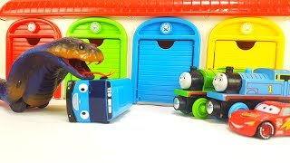 Thomas & Friends Lightning McQueen Tayo the Little Bus Garage Toy insect Cobra Monster Story