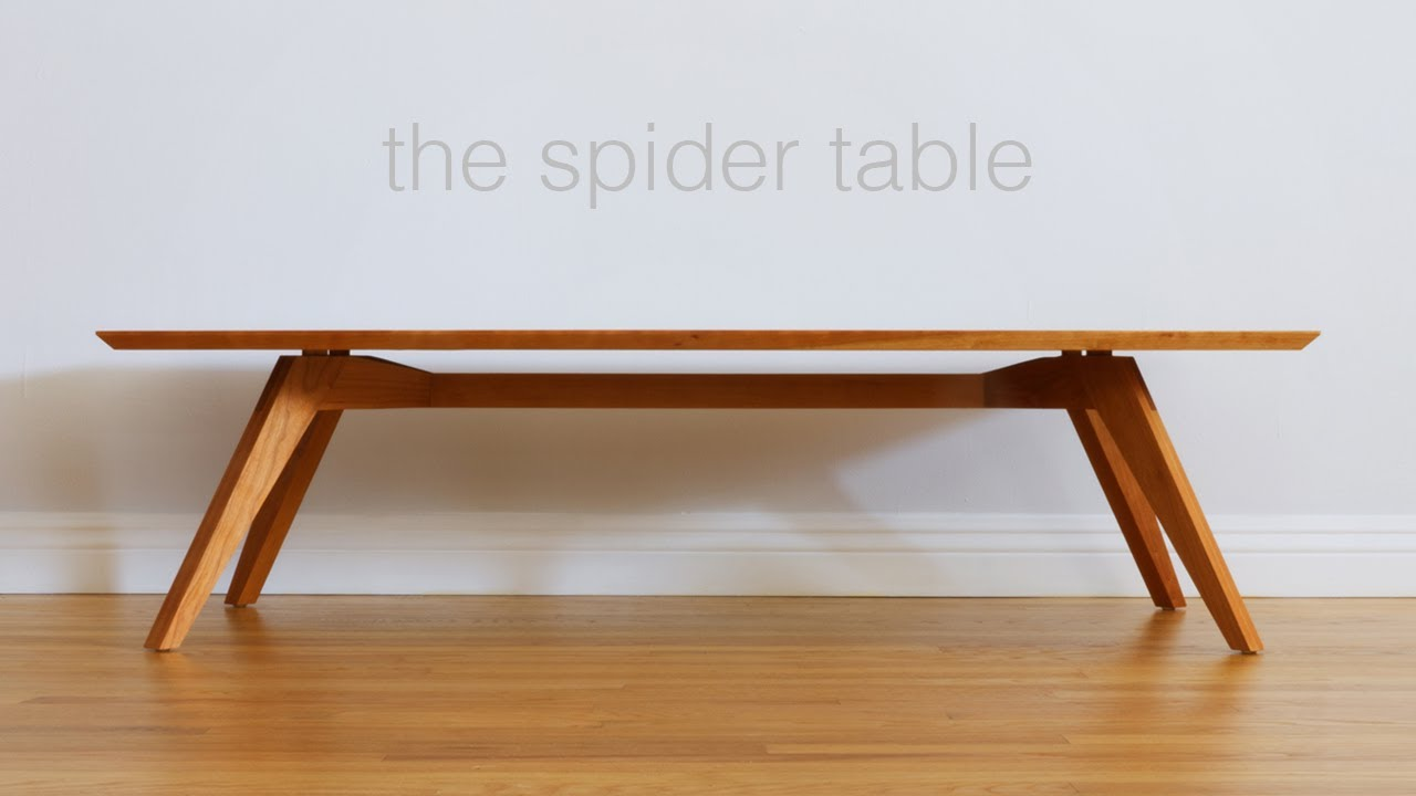 build a mid century modern coffee table woodworking