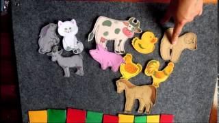 Настенные пособия из ткани Домашние животные