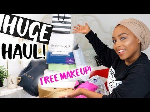 HUGE PR MAKEUP & SUMMER FASHION HAUL! | Aysha Abdul