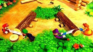 Mario Party The Top 100 Minigames - Mario vs Waluigi vs Luigi vs Daisy