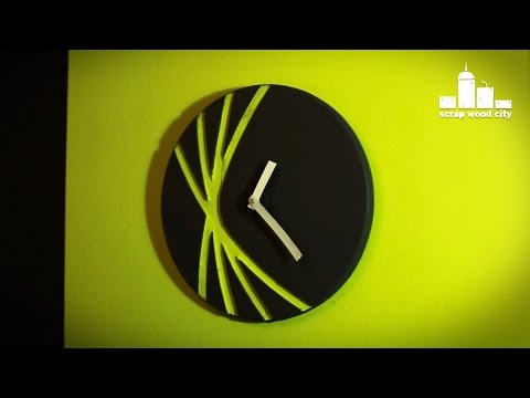 How to make a wall clock out of wood