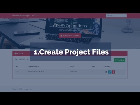 1. Create Project File (CRUD Operations in PHP and MySQL using PDO)
