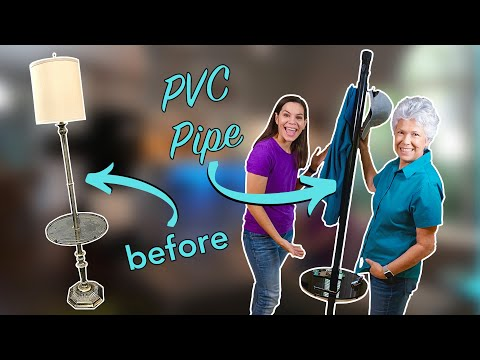 How to Upcycle a Floor Lamp into a Coat Rack