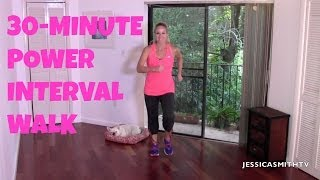 Walking, Exercise for Beginners: Free Full Length 30-Minute Power Interval Walk