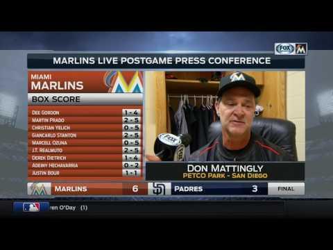 Don Mattingly -- Miami Marlins at San Diego Padres 04/22/2017