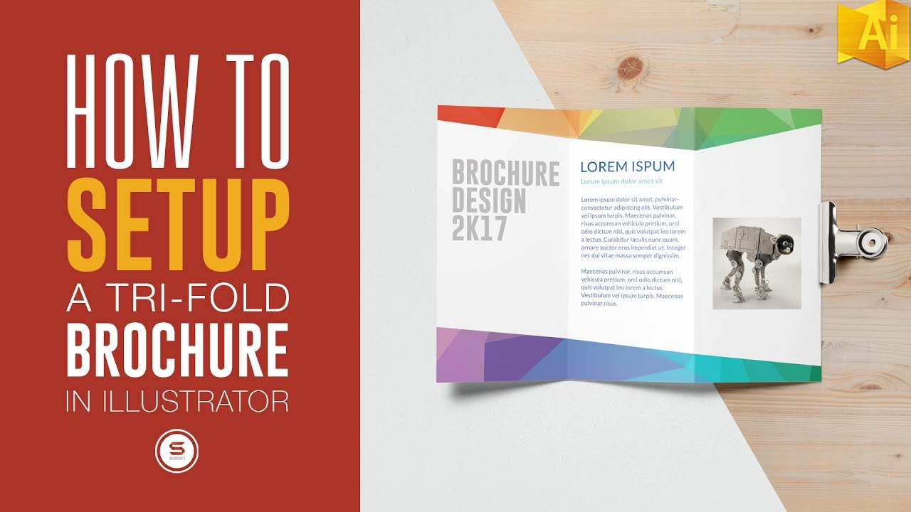 trifold brochure for print in illustrator illustrator tutorial