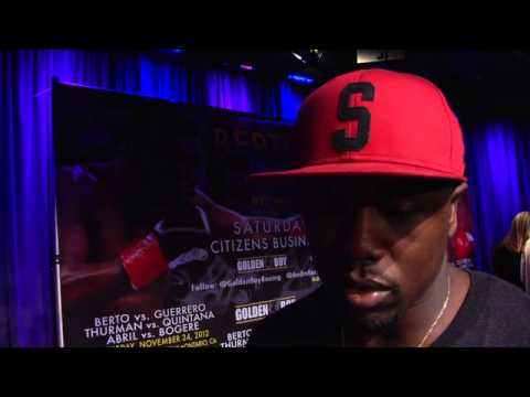 Andre Berto, Robert Guerrero one-on-one interviews
