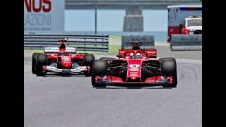 Ferrari F1 2018 vs Ferrari F1 2004 - Montreal