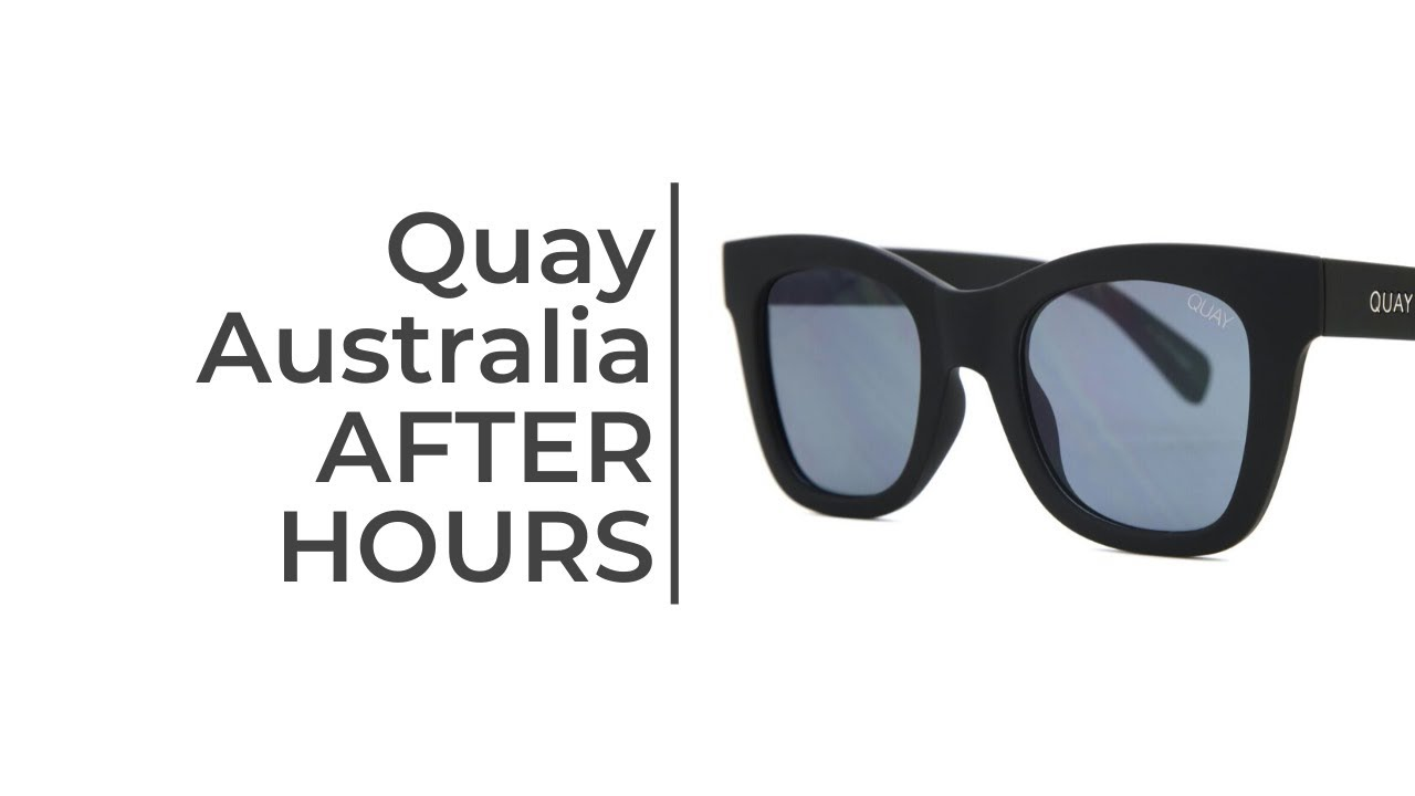 Quay Australia After Hours Sunglasses Short Review - YouTube