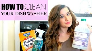 HOW TO CLEAN YOUR DISHWASHER WITH VINEGAR AND BAKING SODA