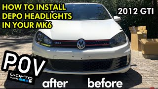 homepage tile video photo for DEPO / Helix MK6 Golf R  Headlight Install in POV!