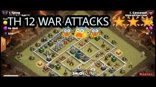 TH 12|WAR ATTACKS|AMAZING|3 STAR 😱😎👍