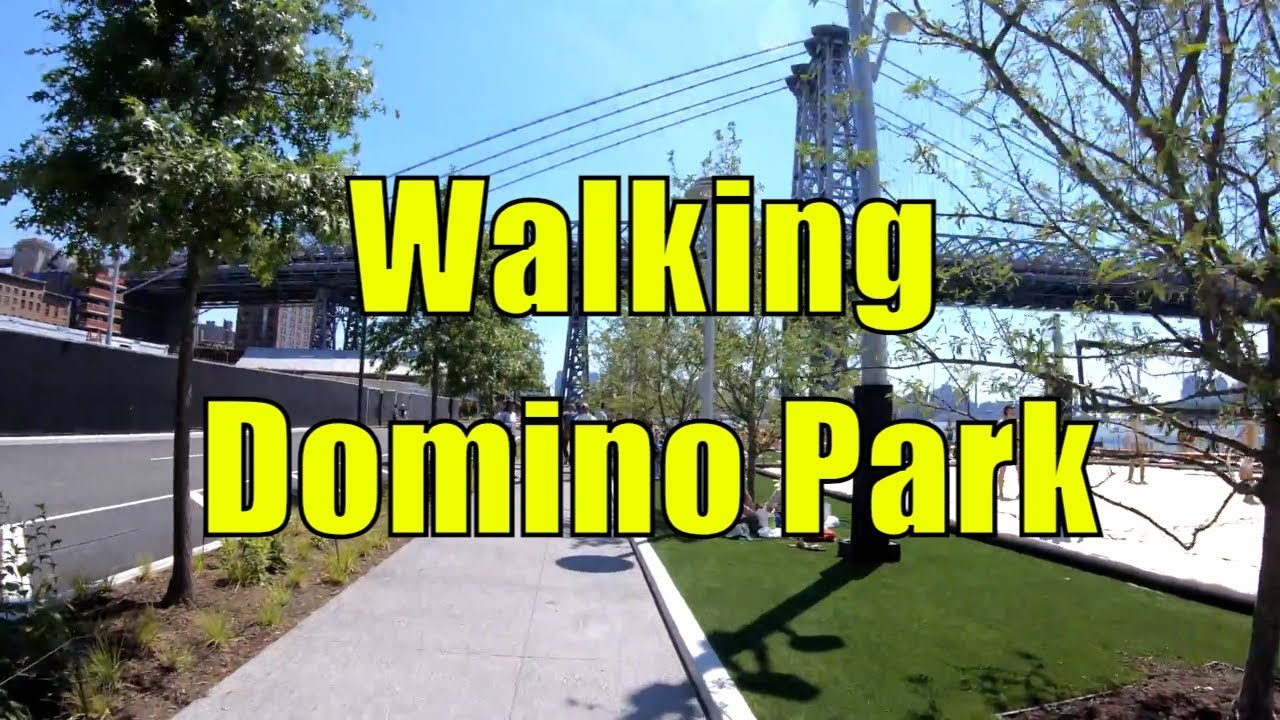 ⁴ᴷ Walking Tour of Domino Park, Williamsburg, Brooklyn, NYC