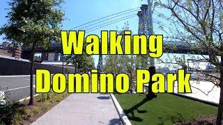 ⁴ᴷ Walking Tour of Domino Park, Williamsburg, Brooklyn, NYC