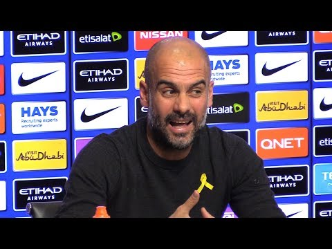 Pep Guardiola Pre-Match Press Conference - Swansea v Manchester City - Embargo Extras