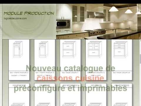 Catalogue de models de caisson d 39 armoires de cuisine 3d youtube - Fabriquer caisson armoire ...