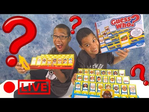 GUESS WHO Game Challenge for Kids Family Fun Game Night