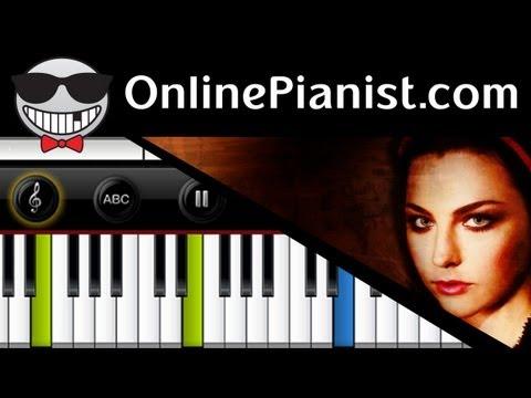 Evanescence - Lithium - Piano Tutorial