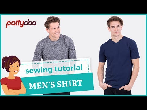 How to sew a T-shirt - step by step sewing tutorial