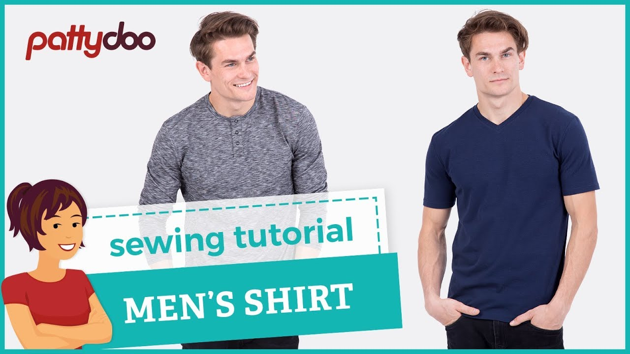 ec74b8984 How to sew a T-shirt - step by step sewing tutorial - YouTube