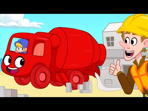 Cement Mixer Morphle Builds Houses! Construction  videos for kids