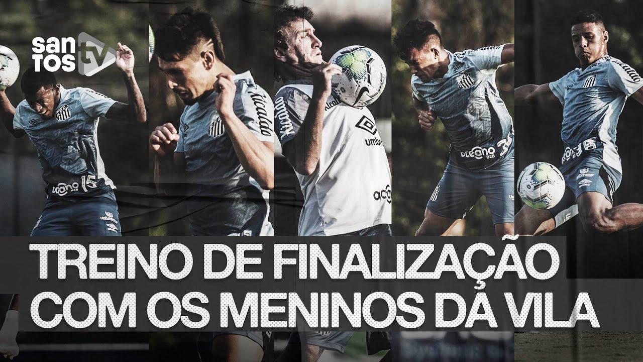 #MENINOSDAVILA FAZEM TREINO DE FINALIZAÇÃO COM O TÉCNICO CUCA