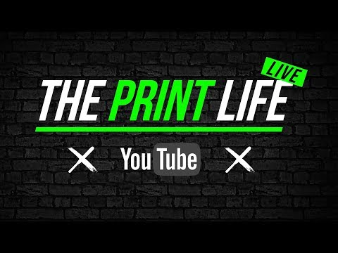 The Print Life Screen Printing video Podcast. Staying Organized.