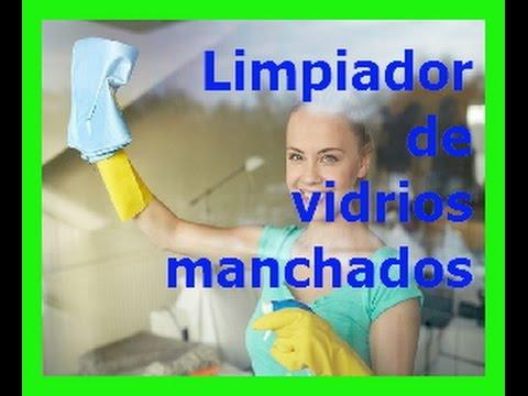 Como Limpiar Vidrios Manchados - YouTube